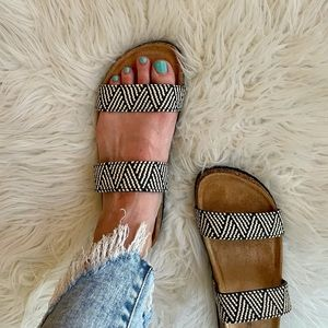 LAST FEW Aztec Tribal Woven Banded Footbed Sandals
